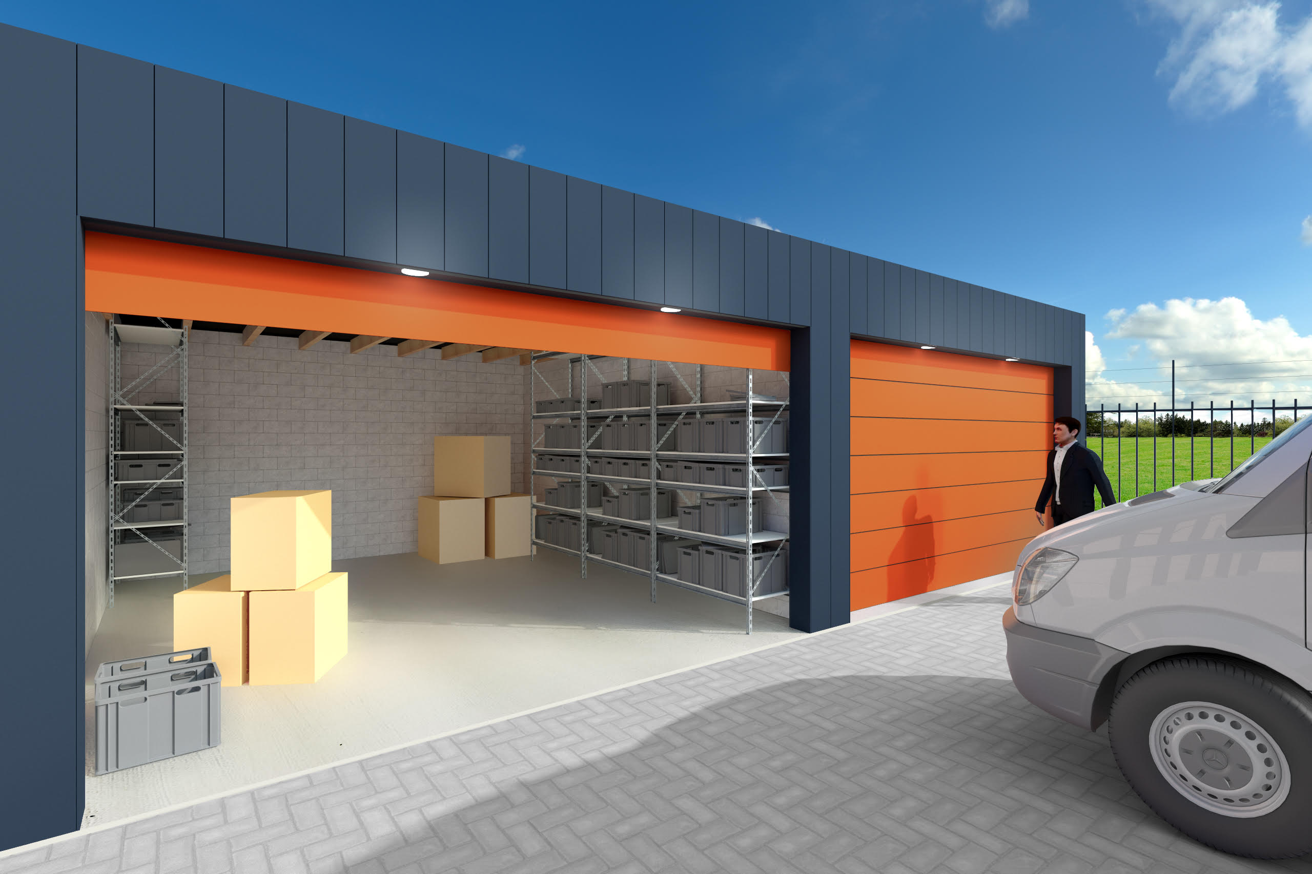Garage boxes for rent in Terbregge in Rotterdam (Hillegersberg).